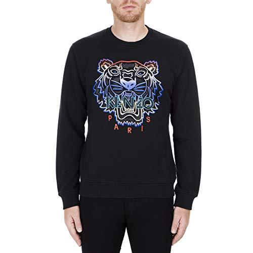 Kenzo Herren-Sweatshirt, Motiv: Regenbogen-Tiger Gr. Medium, Schwarz
