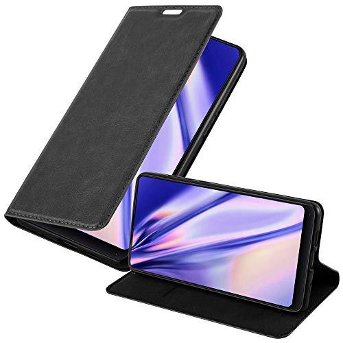 Cadorabo Hülle für Xiaomi MI Mix 2S - Hülle in Nacht SCHWARZ – Handyhülle mit Magnetverschluss, Standfunktion & Kartenfach - Hülle Cover Schutzhülle Etui Tasche Book Klapp Style
