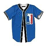 Raylans Camisa de béisbol casual para hombre con estampado floral 3D, de manga corta, con botones, Hombre, BRT-MC011-Color4-L, Color4, M / Tag L
