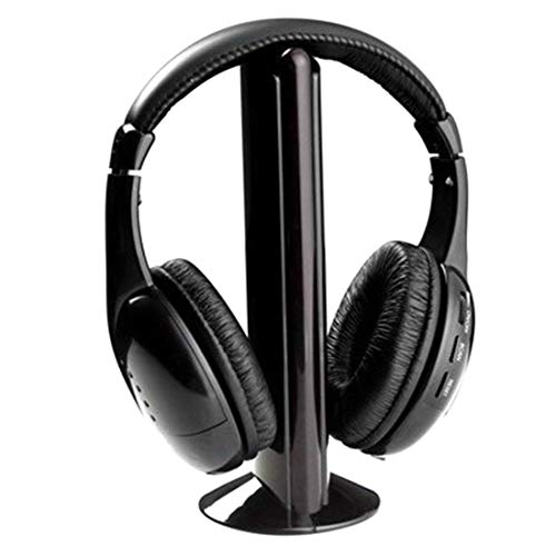 Ossian Deluxe Wireless Headphones – Comfortable 5 in 1 Cordless Over Ear Headset with Radio, Rich Sounds, Deep Bass, Long Range and Microphone for TV PC Gaming Phone Audio Mp3 Music Movie