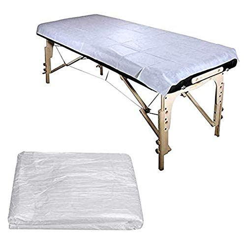 BOOLLY 100PCS Disposable Bed Couch Pad 90x180cm Cover Plastic Massage SPA Salon Table Sheet-Best for Use in spa Saunas