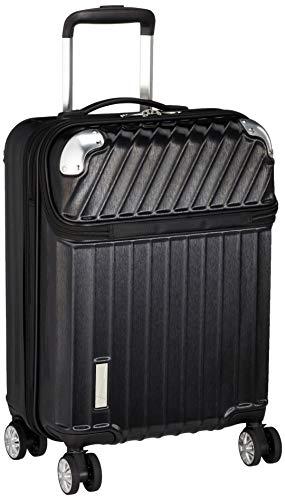 [トラベリスト] スーツケース ジッパー トップオープン モーメント 機内持ち込み可 35L 54 cm 3.4kg ブラックヘアラインエンボス