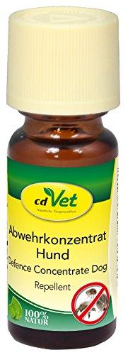 cdVet Naturprodukte Abwehrkonzentrat Hund 10 ml - Schutz vor Zecken&Flöhen&Milben - rein pflanzlich - Langzeitschutz - einfache Handhabung - effektiven Schutz vor Lästlingen - ätherische Öle -