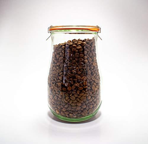 Weck Jars - Weck Tulip Jars 1.5 Liter - Sour Dough Starter Jars - Large Glass Jars for Sourdough - Starter Jar with Glass Lid - Tulip Jar with Wide Mouth - Suitable for Canning and Storage - (1 Jar)