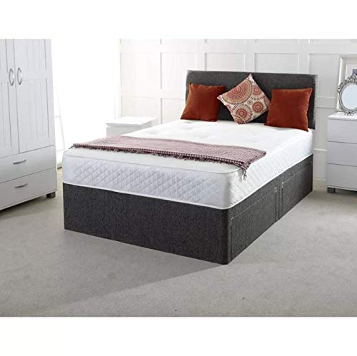 17 Stories Chenille Orthopaedic Pocket-sprung Divan Bed (Red, Small Double (4'), No Drawer)