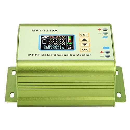 Regulador Solar, MPT-7210A Regulador de Panel Solar, Multi-Protegido con Pantalla LCD Comercial de aleación de Aluminio para hogar Industrial
