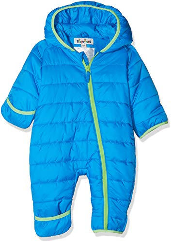 Playshoes Baby-Unisex Stepp-Overall Uni Schneeanzug, blau, 92