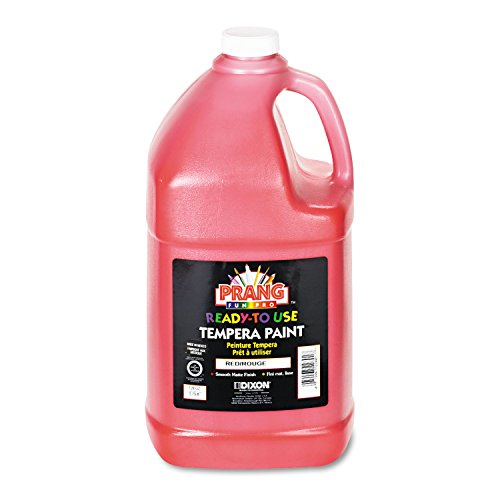 Prang Ready-to-Use Liquid Tempera Paint, 1 Gallon Bottle, Red (22801)