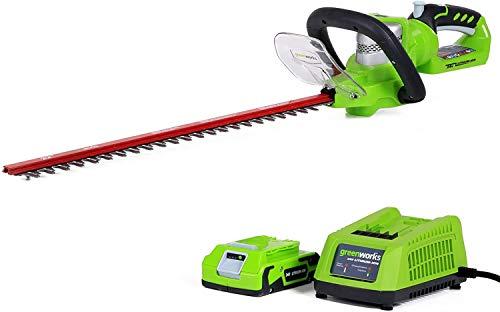 Greenworks Tools 24V Akku-Heckenschere inklusive 2Ah Akku und Ladegerät - 2200007VA
