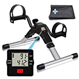 TABEKE Pedal Exerciser, Sitting Pedal Exerciser for Arm/Leg Workout, Portable Bike Pedal Exerciser...