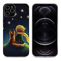 星の王子さま iPhone 12&iPhone 12 Pro&iPhone 12Pro Max&iPhone 12 miniと互換性のあるクリスタルクリアTPUケース、アンチイエロー、保護耐衝撃落下保護ケース