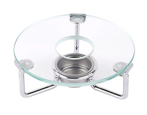 Luxpresso Tee-Stövchen/Teewärmer Clear aus Glas und Edelstahl