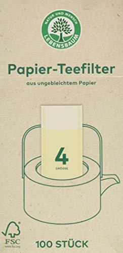 Lebensbaum Papier-Teefilter Gr. 4 (100 Stück)