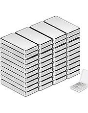 Neodymium magneten Wukong, 20 x 10 x 3 mm mini magneten 40 stuks rechthoekige bakstenen voor whiteboard magneetbord magneetstrips koelkast glas magneetborden bord prikbord