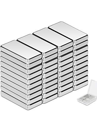 Wukong Magneti al neodimio, 40 Pezzo Magneti forti neodimio potente magnete,Forte magnete di terre rare per Frigoriferi, Magneti al neodimio, Uffici, Esperimenti Scientifici- 20 x 10 x 3 mm
