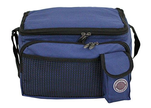 Transworld Durable Deluxe Insulated Lunch Cooler Bag (Many Colors and Size Available) (12'x10'x8 1/2', Navy) by BIRUGEAR
