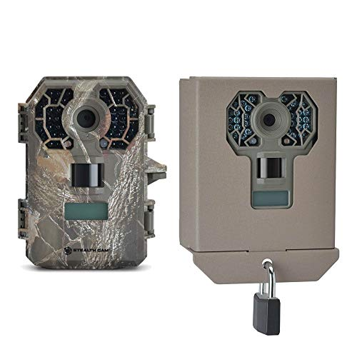 Stealth Cam 10 MP HD No Glow Hunting Scouting Game Trail Camera + Security Box