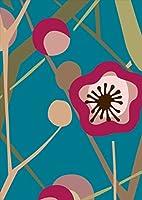 igsticker ポスター ウォールステッカー シール式ステッカー 飾り 1030×1456㎜ B0 写真 フォト 壁 インテリア おしゃれ 剥がせる wall sticker poster 010633 花 和柄 ピンク 緑