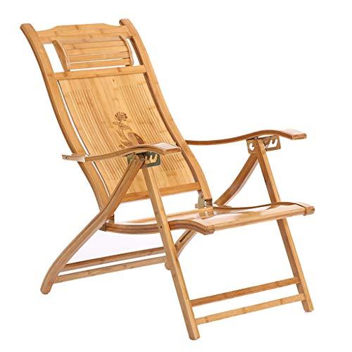Chaise longue de jardin confortable avec chaise longue en bambou Chaise de détente intérieure et extérieure (Couleur : B)