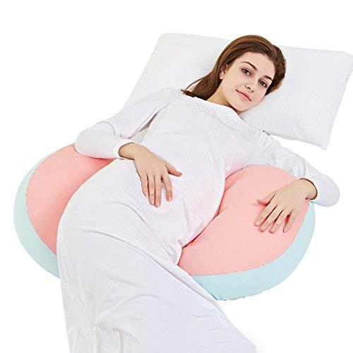 DZX Zwangere Vrouw Kussen/Zwangere Vrouw Kussen H vorm, Verpleegkussen, Wigkussen Met 100% Katoen Kussensloop