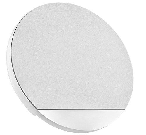 LED Treppenbeleuchtung Rund aus Aluminium und Plexiglas für Schalterdoseneinbau 68mm - Kaltweiss 6500k [Stufenbeleuchtung - Wandbeleuchtung - indirekt]