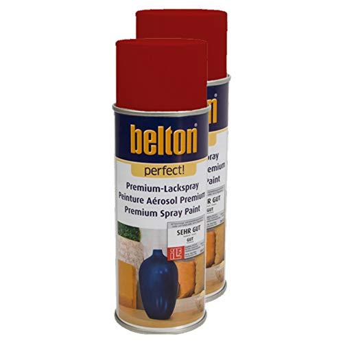 Kwasny 2X Belton Perfect Lackspray Lack Spray Spraylack Premiumlack Premiumlackspray Premium Perfect Rot 400 Ml