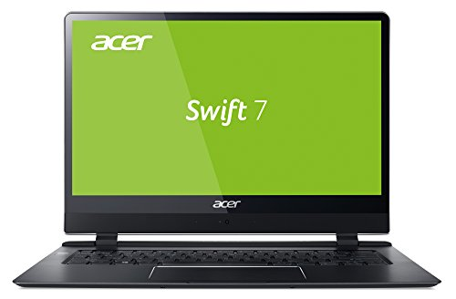 Acer Swift 7 SF714-51T-M97L 35,6 cm (14 Zoll Full-HD IPS Multi-Touch) Ultrabook (Intel Core i7-7Y75, 8GB RAM, 256GB SSD, Intel UHD, Win 10 Pro) schwarz