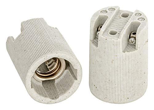 E14 Fassung Keramik (hier: 20 Stück)
