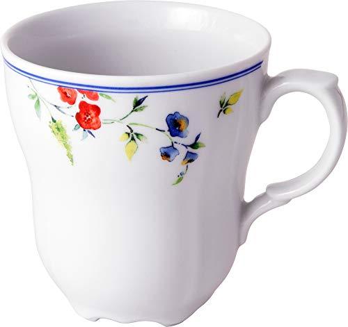 Gepolana Kaffeebecher 6er-Pack Porzellan weiß-blau