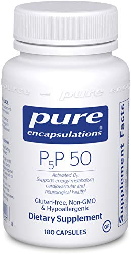 Pure Encapsulations - P5P 50 - Activated Vitamin B6 to Support Metabolism of Carbohydrates, Fats, and Proteins - 180 Capsules