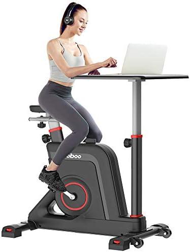 pooboo Desk Cycle Exercise Bike Indoor Cycling Bike Adjustable Magnetic Resistance Stationary product image