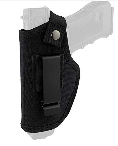 LLLiang Bulldog Cases Nylon Hip Holster|Sizes for Revolver and Semi-Auto| Fits Glock, S&W, Ruger, Springfield, Taurus |