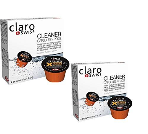 Claro Swiss | Reinigungs-Set 02 | Reinigungskapseln CS-C01 2er-Pack | K-fee | Teekanne TeaLounge System | Reinigung | Wasserenthärtung | Pflege-Set