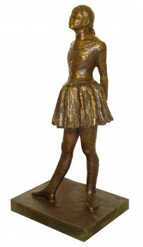 Grandes Escultura de bronce–Pequeñas vierzehnjährige bailarinas–Firmada–Edgar Degas comprar–Escultura de bronce