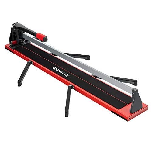 Goplus 48-Inch Manual Tile Cutter, Professional Porcelain Ceramic Floor Tile Cutter with Tungsten Carbide Cutting Wheel, Removable Scale and 4 Adjustable Brackets