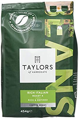 Taylors of Harrogate Rich Italian Coffee Beans, 454 g, Pack of 3