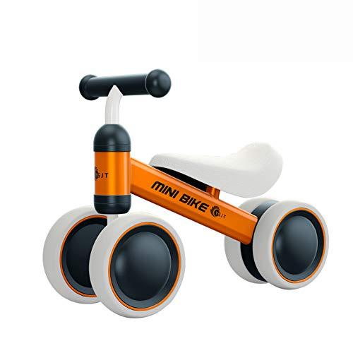 YGJT Biciclette Senza Pedali per Bambini 10 - 24 Mesi, Tricicli Neonati Corridori Giocattoli Regali per Bambini Bicicletta Senza Pedali Bambino (Arancia)