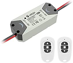 eMylo DC 12V 2CH Relé sem fio RF Controlador de chave de controle remoto 5V-24V 433Mhz Suporte Portas de enrolar, Fechadur...