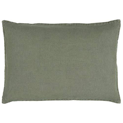 IB Laursen - Kissenbezug, Kissen, Leinenkissen - 100% Leinen - Farbe: Dusty Chalk Green - Grün - 60 x 40 cm - ohne Füllung