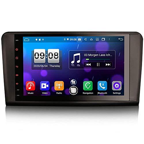 Autoradio Android 10.0 da 9 pollici per Mercedes Benz Classe ML / GL W164 X164 Supporto Carplay Android Auto DSP GPS Navigatore satellitare Bluetooth Wifi 4G DAB + DVB-T / T2 TPMS 8-Core 4 GB RAM +