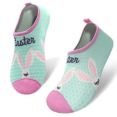 Kids Water Shoes Toddler Barefoot Aqua Socks Shoes Summer Swim Beach Pool Shark Water Socks for Boys & Girls