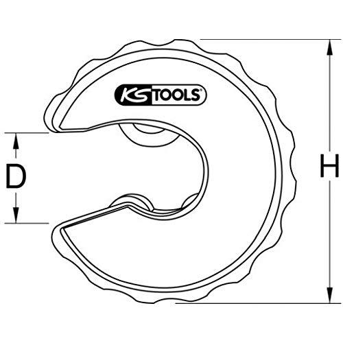 KS Tools 104.2028 Kupferrohr Ratschen-Rohrabschneider, 28mm