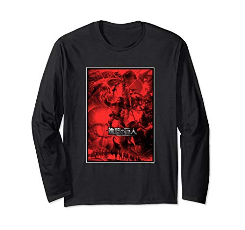 Attack on Titan Season 3 Poster Art with Logo Long Sleeve T-Shirt