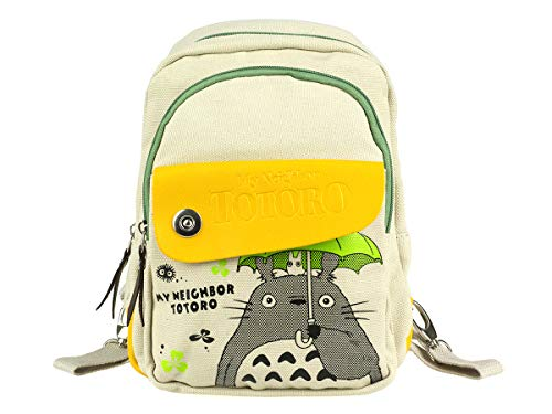 Totoro - Zaino per bambini o donna, in lino, colore: grigio