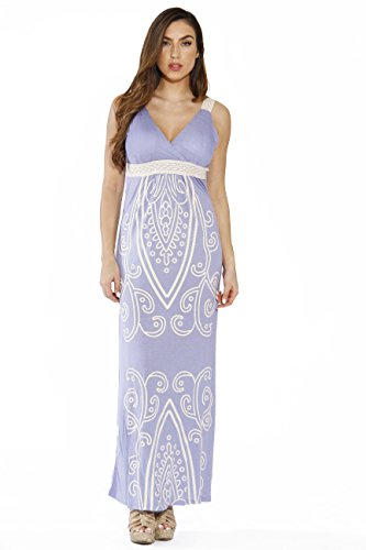 4960-54-L Light Blue Just Love Women Dresses / Maxi Dress / Summer Dresses,Light Blue Maxi,Large