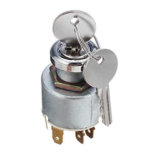 YINLONG 12V 4 Posición Universal Coche Motocicleta Bote Start Start Bloqueo de Encendido Control de Interruptor +2 Llaves Ajuste para Lucas SPB501