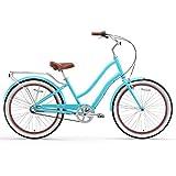 sixthreezero EVRYjourney Women's Hybrid Alloy Beach Cruiser Bicycle OR eBike 250W and 500W Electric Bike, 24 or 26-Inch