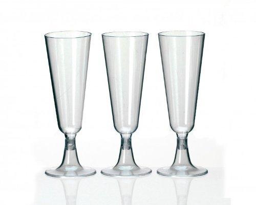 Einwegsektgläser, Champagner Gläser 0,1Liter (10Stück)