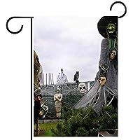 ホームガーデンフラッグ両面春夏庭屋外装飾 12x18inch,ハロウィーン