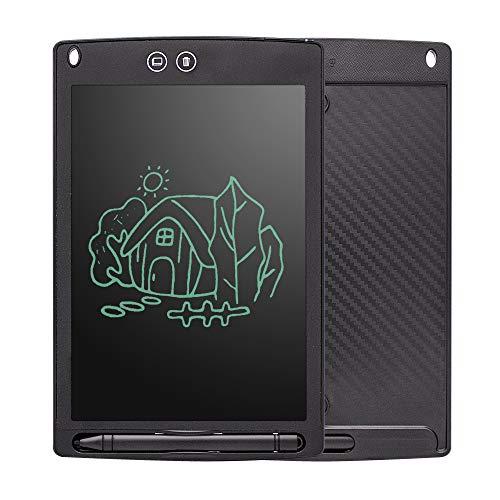 """HYDuo 8.5"""" LCD Tableta niños Lápiz con Borrador Papel Digital para Escribir Notas de Escritura con función de Bloqueo de Pantalla para Escuela, Oficina, Cocina (Negro)"""